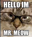 HELLO IM MR. MEOW - Personalised Poster large