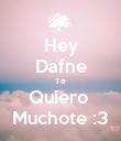 Hey Dafne Te Quiero  Muchote :3 - Personalised Poster large