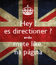 Hey ! es directioner ? então mete like   na página  - Personalised Poster large