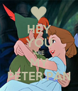 HEY YOU ARE MY PETER PAN - Personalised Poster small