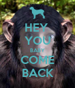 HEY  YOU BABY COME BACK - Personalised Poster large
