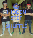 HIDDEN STEP  SHUFFLE  - Personalised Poster large