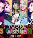 HIT LIKE IF  YOU'RE A SONE - Personalised Poster large