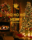 HO HO HO MERRY CHRISTMAS   - Personalised Large Wall Decal