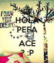 HOLA PEFA K ACE ? :P - Personalised Poster small