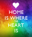 HOME IS WHERE THE HEART IS - Personalised Poster large