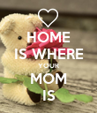 HOME IS WHERE YOUR MOM IS - Personalised Poster large