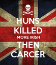 HUNS KILLED MORE IRISH THEN CARCER - Personalised Poster large
