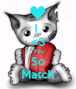 I  <3 You So Match - Personalised Poster large