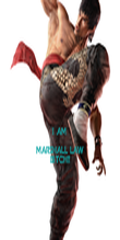 I AM  MARSHALL LAW BITCH!! - Personalised Poster small