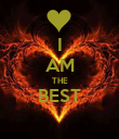 I AM THE BEST  - Personalised Poster large