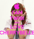 I'AM TWIBI AND LOVE CHERRYBELLE - Personalised Poster large