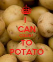 I  CAN COUNT TO POTATO - Personalised Poster large