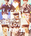 I CAN'T KEEP CALM BECAUSE I LOVE THEHUN - Personalised Poster large