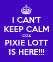 I CAN'T KEEP CALM COZ PIXIE LOTT IS HERE!!! - Personalised Poster large