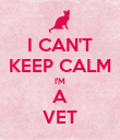 I CAN'T KEEP CALM I'M A VET - Personalised Poster large