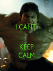 I CANT    KEEP CALM - Personalised Poster large