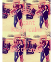 I cant Keep calm Cause  I miss my Bestfrandd - Personalised Poster large