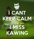 I CANT KEEP CALM  I MISS KAWING - Personalised Poster large