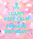 I CAN'T KEEP CALM IT'S MY FREAKIN' BIRTHDAY! - Personalised Poster large