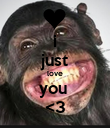i just love you  <3 - Personalised Poster large