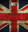I JUST WANNA MEET ONE DIRECTION RIGHT NOW - Personalised Poster large