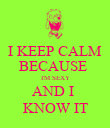 I KEEP CALM BECAUSE  I'M SEXY AND I  KNOW IT - Personalised Poster large