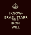 I KNOW- ISRAEL STARR PROD BY IRON WILL - Personalised Poster large