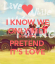 I KNOW WE ONLY MET BUT LET'S PRETEND  IT'S LOVE - Personalised Poster large
