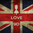 I LOVE  9D  - Personalised Poster large