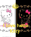 I love hello Kitty  - Personalised Poster large