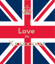 I Love  Jls  Xxxxxxxxx  - Personalised Poster large