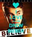 I LOVE JUSTIN DREW BIEBER - Personalised Poster large