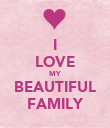 I LOVE MY BEAUTIFUL FAMILY - Personalised Poster large