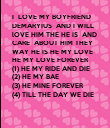 I  LOVE MY BOYFRIEND 