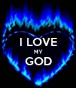 I LOVE MY GOD  - Personalised Poster large