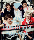 I LOVE ONE  DIRECTION FOREVER - Personalised Poster large
