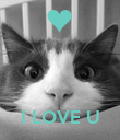 I LOVE U - Personalised Poster large