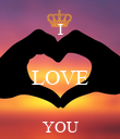 I  LOVE  YOU - Personalised Poster large