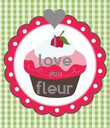 i love you fleur  - Personalised Poster large