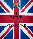I LOVE YOU FOREVER <3 - Personalised Poster large