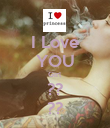 I Love YOU Girl ?? ?? - Personalised Poster large
