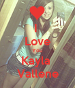 I  Love You  Kayla  Vallene - Personalised Poster large