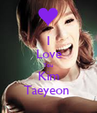 I Love You Kim Taeyeon  - Personalised Poster large