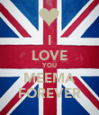 I LOVE YOU MEEMA FOREVER - Personalised Poster large