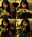 I LOVE YOU RELLY M.PUTRA - Personalised Poster large