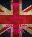 I LOVE YOU SGATJEE WJNMK - Personalised Poster large