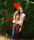 I LOVE YOU SO MUCH <3 - Personalised Poster large