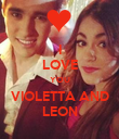 I LOVE YOU VIOLETTA AND LEON - Personalised Poster large