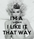 I'M A  SINNER I LIKE IT THAT WAY - Personalised Poster large